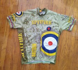 World Jerseys Short Sleeve Cycling Jersey Size 2XL XXL Spitfire Green