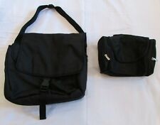 BLACK MESSENGER LAPTOP BAG AND TRAVEL BAG USED ONCE GREAT CONDITION
