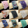 6/8mm Handmade Natural Gemstone Round Beads Stretch Bracelet Jewelry