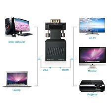 VGA to HDMI 1080P HD TV Video Audio Converter Box Adapter For Notebook PC Laptop