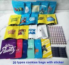 50ct ASSORTED COOKIES MIX VARIETY ZIP LOCK EMPTY BAGS 3.5g Runtz Tang Gray