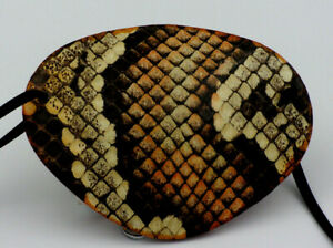 PYTHON Patterns BROWNS, Replaceable Elastic, Hand Made -WORLD'S BEST EYE PATCH