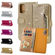 For Samsung Galaxy S20 Ultra S20 S10+ Bling Glitter Leather Wallet Stand Cover