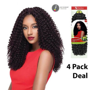 """OUTRE X-PRESSION CROCHET BRAID - WATER WAVE LOOP 14""""- 4 PACK DEAL"""