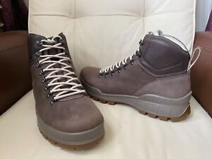 ECCO Hydro - Max brown leather nubuck lace up boots, UK Size 11.5 ,EUR 46