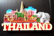 3d fridge magnet souvenir resin thailand wat arun  tourist thai  gift kitchen