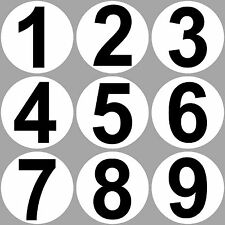 9 Aufkleber 20cm Sticker 1 bis 9 Startnummern Nummer Zahlen Tor Garage Werkstatt