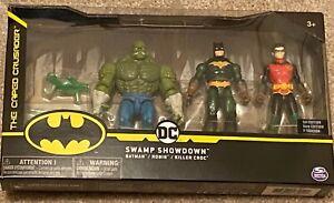 "DC Swamp Showdown 3 Pack Killer Croc Batman Robin Spin Master Action Figure 4"""