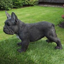 Gartenfigur Hund Französische Bulldogge 37.224B schwarz Garten lebensecht Figur
