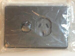 Clipsal C2015/20 Single Switch Socket Outlet 10A 250V Standard Silver