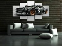 Vintage Classic Car 5 Piece Canvas Wall Art Picture - Printed Poster Home Decor