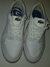 LACOSTE Mens (Unisex) White Leather Low-Rize Sneakers Mens Sz.8,5 (Womens Sz. 9)