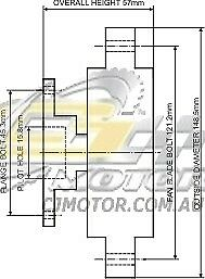 DAYCO Fanclutch FOR Mitsubishi Starion May 1983 - Aug 1984 2.0L Turbo JA 4G63T
