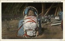 Native Indian Pueblo Papoose Snug as a Bug c1920 Postcard