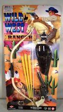 WILD WEST COWBOY INDIAN PLAY GUN SET bow arrows pistol boys toy western mask
