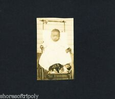 CAT with AFRICAN AMERICAN BABY IN STROLLER ~ ID'd TEXAS FAMILY PHOTO ALBUM ~ TX