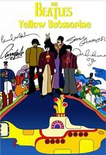 BEATLES 8X10 SIGNED GLOSSY PHOTO SIGNED REPRINT 1968 YELLOW SUBMARINE CEL.   110