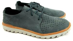 Merrell J93933 US Men's 13 M Slate Gray Perforated Suede Lace Up Derby Shoes EUC