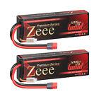 2x Zeee 120C 5200mAh 7.4V LiPo Battery 2S Deans Hardcase for RC Car Truck Boat