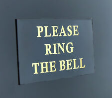 PLEASE RING THE BELL DOOR OFFICE METAL LASER ENGRAVED SIGN MINI 60MM X 30MM
