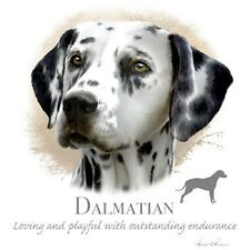 """Dalmatian Dog Head with Phrase on One 18"""" x 22"""" Fabric Panel to Sew"""