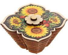 Wooden Sugar Bowl W/Lid Made in Ukraine Kitchen Storage Container Hand Carv
