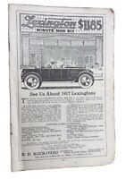 "VINTAGE PRINT AD , 1917 ,  LEXINGTON "" MINUTE MAN SIX"" - ORIGINAL"