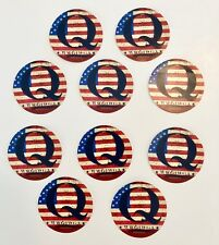 Qanon Trump ....WWG1WGA...Vinyl Stickers Decals  Q  Flag DECALS 10 Pack