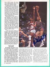 Paul Westphal NBA Phoenix Suns Basketball Hand Signed Autograph Magazine Page