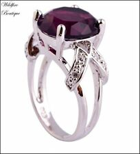 Statement Amethyst Stone Fashion Rings