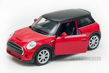 New Mini Hatch red, Welly scale 1:34-39, model toy car gift