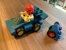 lego duplovintage racing car. Racer. 2 . 1 x figure.