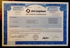 Rare- Jds Uniphase Inc. Stock Certificate-Hard To Find-Very Nice Condition!