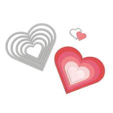 """Framelits ~ Sizzix Die Set """"Hearts"""" ~ Herz Stanzschablone ~ NEU für Big Shot"""