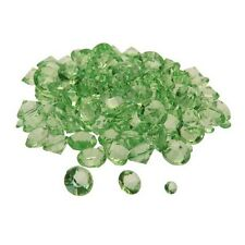 8 x Packs of 350 - Lime Diamond Table Confetti Crystal Decoration #13B248