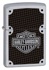 Zippo 24025, Harley Davidson-Carbon Fiber, Chrome Lighter, **6 Flints/Wick***