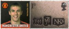 PHIL NEVILLE Manchester United Football Club Stamp & Smiler Label (GB 2002)