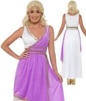 Adult Grecian Goddess Costume Greek Roman Toga Ladies Fancy Dress Outfit S-L