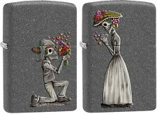 Zippo 28987 skeleton love 2 piece set iron stone finish s full size Lighter