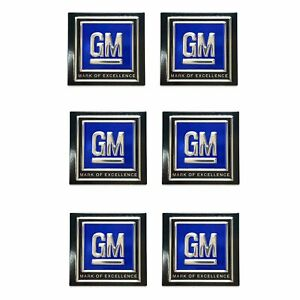 6 GM Black Lap Seat Belt Deluxe Push button Stickers Decals 50s 60s 70s 80s LSX