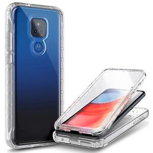 For Motorola Moto g PLAY (2021) Case Full Body Cover +Built-In Screen Protector