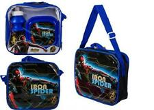 Marvel Iron Spider Spiderman Blue Lunchbag With Sandwich Box And water Bottle