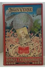 Jules Verne - L'Ile à Hélice. Hetzel cartonnage au portrait collé Lenègre