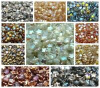 CHOOSE COLOR! 50pcs Star Beads, 8mm, Czech Pressed Glass