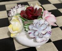 Royal Doulton Flower basket bouquet Beautiful Vintage floral ornament excellent