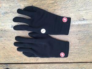 Chpt 3 Castelli ROS Gore-tex Rosso Corsa Cycling Gloves Black Medium