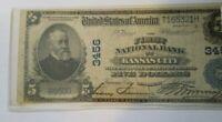 Kansas City Missouri 1902 $5 National Banknote,  Charter #3456, Awesome Charter