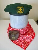 VNTG. BOY SCOUTS of CANADA BERET // Plus POUCH & SCARF - Official