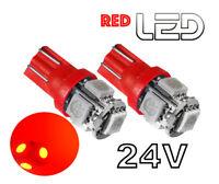 2  Lampen Lampe w5w T10 24 V 24V ROT SCANIA  IVECO  MAN  MERCEDES VOLVO  DAF