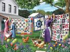 Quilts In The Backyard 500 Pc Jigsaw Puzzle By SUNSOUT INC For Sale
